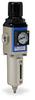 Pneumatic / Compressed Air Filter-Regulator: 1/4 inch NPT female ports -- AFR-2233-D - Image