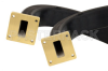 WR-112 Twistable Flexible Waveguide 12 Inch, UG-51/U Square Cover Flange Operating From 7.05 GHz to 10 GHz -- PE-W112TF005-12 - Image