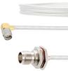 RA SMA Male to TNC Female Bulkhead Cable FM-SR141TB Coax in 12 Inch with LF Solder -- FMCA2140-12 -Image