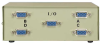 4-Way HD15 ABCD VGA Monitor Switch -- 40H1-A4 - Image