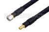 1.0mm Male to 1.0mm Female Precision Cable 6 Inch Length Using PE-TC110 Coax, RoHS -- PE3TC1221-6 - Image