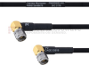 RA SMA Male to RA SMA Male MIL-DTL-17 Cable M17/84-RG223 Coax in 100 cm -- FMHR0053-100CM -Image