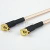 RA MMCX Plug to RA MMCX Plug Cable RG316 Coax in 120 Inch -- FMC1919316-120 -Image