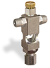 "(Formerly B1629-6X00), Cross Small Sight Feed Valve, 1/8"" Male NPT Inlet, 1/4"" OD Tube Outlet, Handwheel -- B1628-225B1HW -Image"