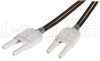 Duplex HFBR Plastic Fiber Optic Cable, 1.0m -- FODU-HFBR-1 -Image