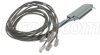 Cat. 3 Telco Breakout Cable, Female Telco / 6 (8x8), 3.0 ft -- TDC50F88