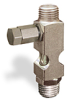 "(Formerly B1631-8X01), Straight Small Sight Feed Valve, 1/4"" Male NPT Inlet, 1/4"" Male NPT Outlet, Tamperproof -- B1628-444B1TW -Image"