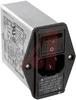 EMI POWER LINE FILTER, MULTI FUNCTION MODULE, W/IEC CONN, SINGL FUSE, W/VOLT SEL -- 70133403 - Image