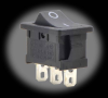 10A Rocker Switch 3-pin, SPDT -- 0-PL1406