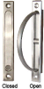 Rotary Edge Pull for Pocket Doors -- 800384