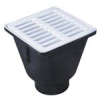 8 in. Square x 6 in. Deep Sanitary Floor Sink -- FS-710 -- View Larger Image