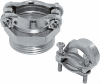 Nickel-Plated Brass Strain Relief Cable Glands with Double Saddle Clamp and PG Thread -- SKINDICHT® SK