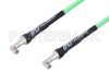 SMA Male Right Angle to SMA Male Right Angle Low Loss Test Cable 150 cm Length Using PE-P300LL Coax, RoHS -- PE3C2884-150CM -Image
