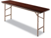Alera Folding Table, Rectangular, 72w x 18d x 29h, Walnut -- ALEFT727218WA