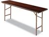 Alera Folding Table, Rectangular, 72w x 18d x 29h, Walnut -- ALEFT727218WA