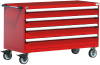 Heavy-Duty Mobile Cabinet, with Partitions -- R5BKG-3019 -- View Larger Image