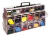 Bins & Systems - Clear Tip Out Bins (QTB Series) - Portable Frame - QTF320-42