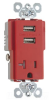 Combination Switch/Receptacle -- TR5361USB-RED -- View Larger Image