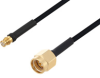Push-On SMP Female to SMA Male Cable 60 Inch Length Using PE-SR405FLJ Coax with HeatShrink -- PE3W04389/HS-60 -Image