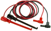 XJL Macro-Hook to 9302 Shrouded R/A Banana Plug, 18 AWG PVC Test Lead -- 633XJL -Image