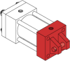 Series A Pneumatic Cylinder - Model A61 NFPA Style MP1 -- Clevis Mount - Image