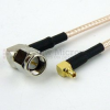 RA SMA Male to RA MMCX Plug Cable RG-316 Coax in 48 Inch -- FMC0419315-48 -Image