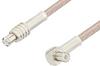 MCX Plug to MCX Plug Right Angle Cable 60 Inch Length Using RG316 Coax, RoHS -- PE3316LF-60 -Image