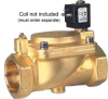 "BRONZE 2-WAY NC SPRING RETURN 1 1/2"" NPTF-LESS COIL PILOT OPERATED SOLENOID VALVE -- D224DBKN - Image"