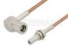 SMB Plug Right Angle to SMB Jack Bulkhead Cable 48 Inch Length Using RG178 Coax, RoHS -- PE34467LF-48 -Image