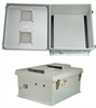 18x16x8 Inch Weatherproof NEMA 3R Vented Enclosure-DIN Mounting Rails -- NB181608-00VDR -Image