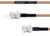 BNC Male to BNC Male MIL-DTL-17 Cable M17/128-RG400 Coax in 72 Inch -- FMHR0057-72 -Image