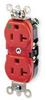Duplex Receptacle,20 Amps AC,5-20R,Red -- 1PKD8 - Image