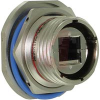 ATEX ZONE 2 JAMNUT RECEPTACLE; RJ45 TERMINATION; NICKEL PLATED; CODE A -- 70026690 - Image