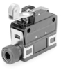MICRO SWITCH SL1 Series Limit Switch, Top Roller Arm, 1NC/1NO Snap action, Gold contacts, Compression fitting -- SL1-PK -Image