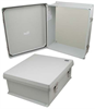 16x14x6 Inch UL® Listed Weatherproof NEMA 4X Enclosure with Blank Non-Metallic Mounting Plate -- NB161406-KIT01 -Image