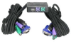 2-Way Mini PS/2 & USB Port KVM Switch w/ Attached Cables -- 190121