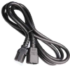 3ft IEC320 C14 to C13 Extension Power Cord 14/3 SJT (10A 250V) -- SF-3212-03B-14