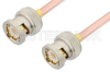 BNC Male to BNC Male Cable 6 Inch Length Using RG402 Coax -- PE3445-6