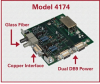 Hi-Speed Rugged ST Fiber-to-RS-485/422/232 Interface Converter Board -- Model 4174