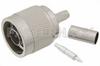 N Male Connector Crimp/Solder Attachment for RG58, RG141, RG303, LMR-195, PE-C195, PE-P195, .195 inch -- PE4329 -Image