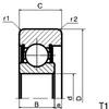 Mast Rollers (Single Row Ball Bearings) -- CZ206016KX-2RS - Image