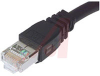 Patch Cord; 1 ft.; 26 AWG; 4 Pair Stranded; Non booted; Black; UL Listed -- 70126218 - Image