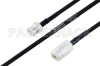 MIL-DTL-17 BNC Male to N Female Cable 39.37 Length Using M17/84-RG223 Coax -- PE3M0031-100CM -Image