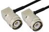 TNC Male Right Angle to TNC Male Right Angle Semi-Flexible Precision Cable 12 Inch Length Using PE-SR405FLJ Coax, LF Solder, RoHS -- PE39486-12 -Image