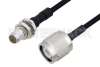 Slide-On BMA Plug Bulkhead to TNC Male Cable 60 Inch Length Using PE-SR405FLJ Coax -- PE3C4863-60 -Image