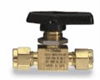 2A-MB2LPFA-BP - Parker two-way straight ball valve, brass, 1/8