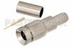 1.0/2.3 Plug Connector Crimp/Solder Attachment for RG58, RG303, RG141, PE-C195, PE-P195, LMR-195, 0.195 inch -- PE44243 - Image