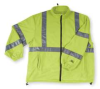 Jacket,Safety,Type 3,Lime,Fleece,L -- 2RE45