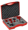 Hole Saw Kit: bi-metal HSS, 7/8 to 2-11/16 inch diameter, 8 pc -- 106302 - Image