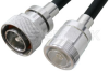 7/16 DIN Male to 7/16 DIN Female Cable 120 Inch Length Using PE-C400 Coax -- PE37962-120 - Image